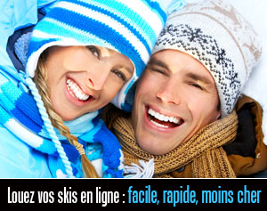location de skis sur internet